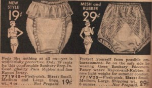 Protective panties. You've come a long way, Baby! Or have you?