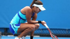 """Heather Watson loses first round at Australian Open--and blames it on """"girl things."""" BBC picks up the story."""
