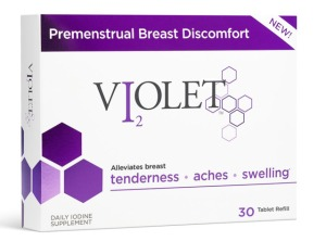 """If your 'girls' hurt, you are not alone,"" according to Violet's™ website. Just take these little pills."